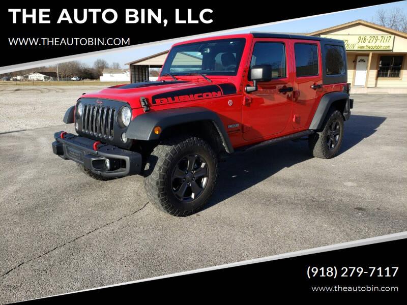 2018 Jeep Wrangler JK Unlimited for sale at THE AUTO BIN, LLC in Broken Arrow OK