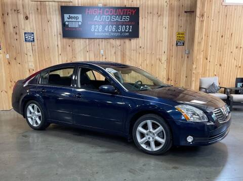 2005 Nissan Maxima for sale at Boone NC Jeeps-High Country Auto Sales in Boone NC