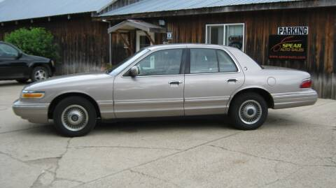 1995 Mercury Grand Marquis for sale at Spear Auto Sales in Wadena MN