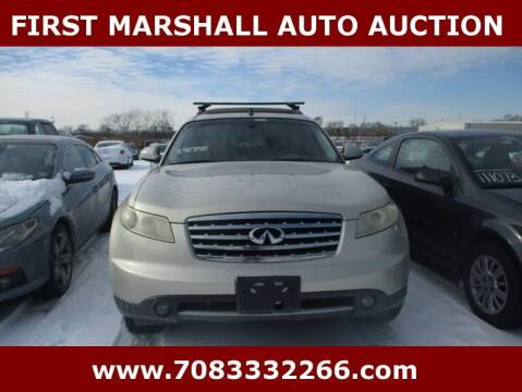 2006 Infiniti FX35 for sale at First Marshall Auto Auction in Harvey IL