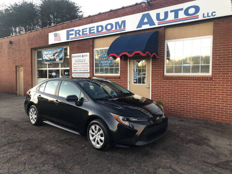 2020 Toyota Corolla for sale at FREEDOM AUTO LLC in Wilkesboro NC