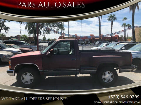 1990 Chevrolet C/K 1500 Series for sale at PARS AUTO SALES in Tucson AZ