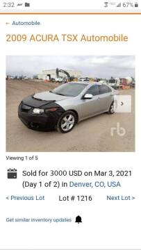 2009 Acura TSX for sale at Macks Auto Sales LLC in Arvada CO