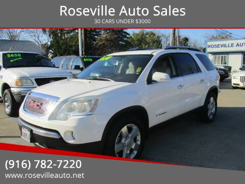 2008 GMC Acadia for sale at Roseville Auto Sales in Roseville CA