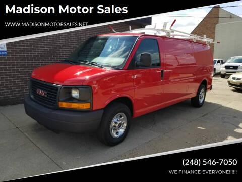 2014 GMC Savana Cargo for sale at Madison Motor Sales in Madison Heights MI
