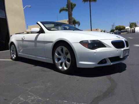 2007 BMW 6 Series for sale at MANGIONE MOTORS ORANGE COUNTY in Costa Mesa CA