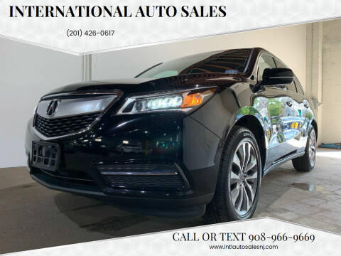 2014 Acura MDX for sale at International Auto Sales in Hasbrouck Heights NJ