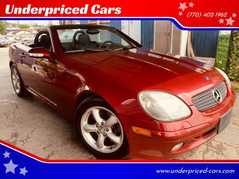 2001 Mercedes-Benz SLK for sale at Underpriced Cars in Marietta GA