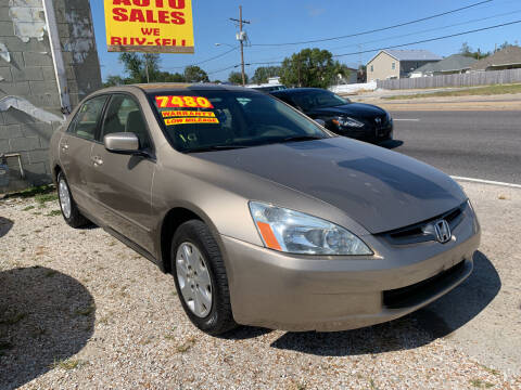 2003 Honda Accord for sale at CHEAPIE AUTO SALES INC in Metairie LA