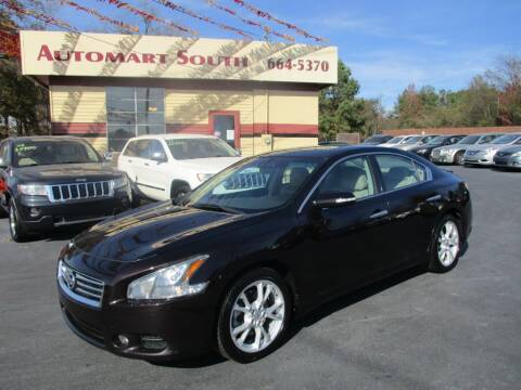 2012 Nissan Maxima for sale at Automart South in Alabaster AL