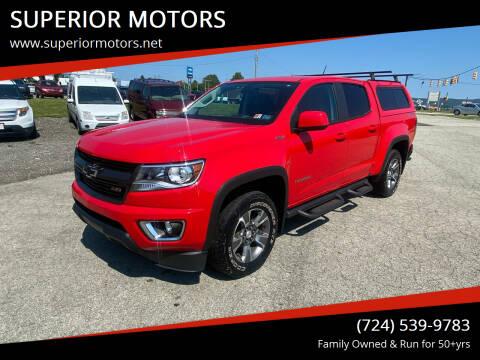 2016 Chevrolet Colorado for sale at SUPERIOR MOTORS in Latrobe PA