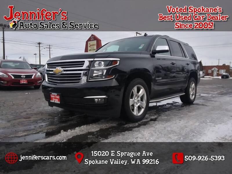 2015 Chevrolet Tahoe for sale at Jennifer's Auto Sales in Spokane Valley WA