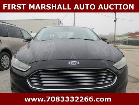2016 Ford Fusion for sale at First Marshall Auto Auction in Harvey IL