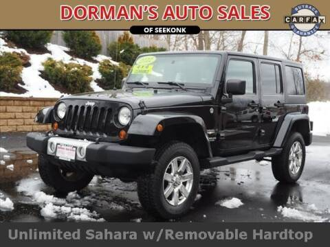 2012 Jeep Wrangler Unlimited for sale at DORMANS AUTO CENTER OF SEEKONK in Seekonk MA