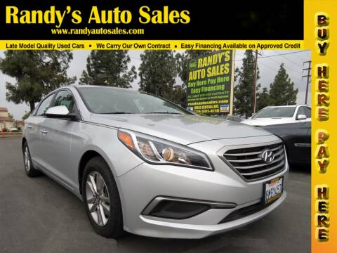 2017 Hyundai Sonata for sale at Randy's Auto Sales in Ontario CA