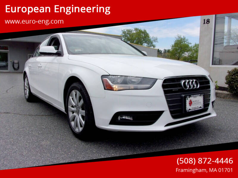 2014 Audi A4 for sale at European Engineering in Framingham MA