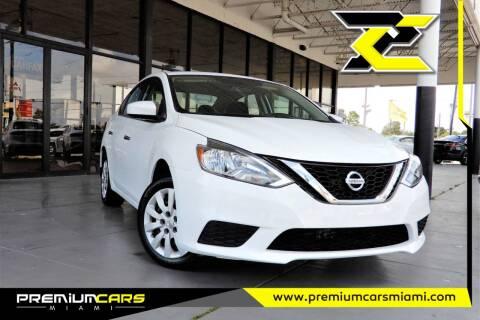 2017 Nissan Sentra for sale at Premium Cars of Miami in Miami FL