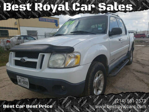 2001 Ford Explorer Sport Trac for sale at Best Royal Car Sales in Dallas TX