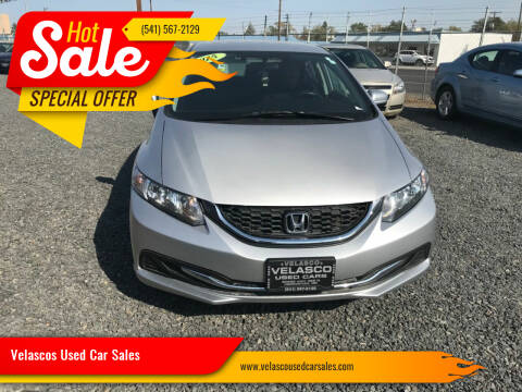 2015 Honda Civic for sale at Velascos Used Car Sales in Hermiston OR
