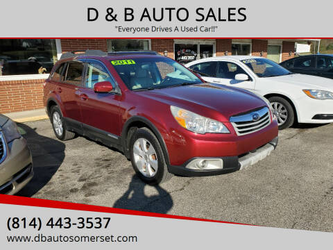 2011 Subaru Outback for sale at D & B AUTO SALES in Somerset PA