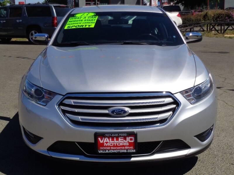 2013 Ford Taurus for sale at Vallejo Motors in Vallejo CA