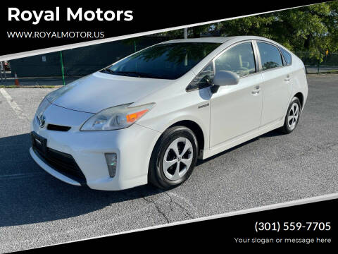 2013 Toyota Prius for sale at Royal Motors in Hyattsville MD