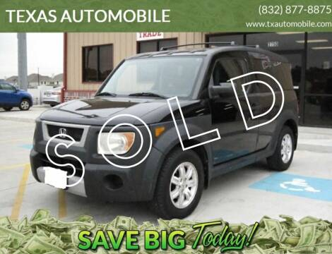 2006 Honda Element for sale at TEXAS AUTOMOBILE in Houston TX
