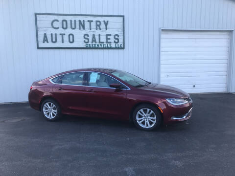 2015 Chrysler 200 for sale at COUNTRY AUTO SALES LLC in Greenville OH