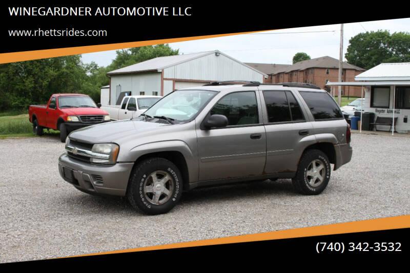 2006 Chevrolet TrailBlazer for sale at WINEGARDNER AUTOMOTIVE LLC in New Lexington OH