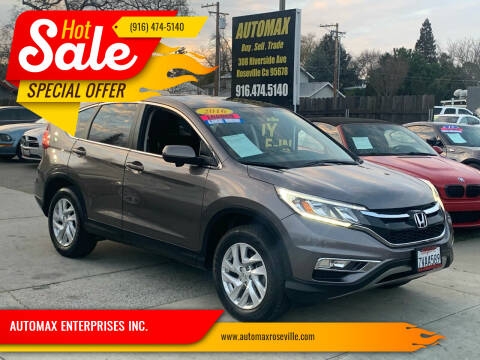 2016 Honda CR-V for sale at AUTOMAX ENTERPRISES INC. in Roseville CA