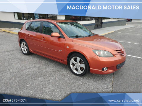 2004 Mazda MAZDA3 for sale at MacDonald Motor Sales in High Point NC