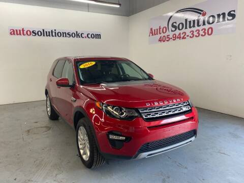 2016 Land Rover Discovery Sport for sale at Auto Solutions in Warr Acres OK