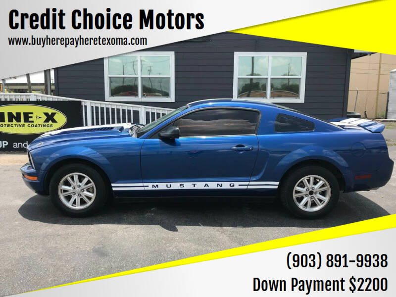 2007 Ford Mustang for sale at Credit Choice Motors in Sherman TX