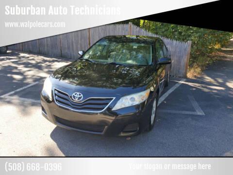 2011 Toyota Camry for sale at Suburban Auto Technicians in Walpole MA