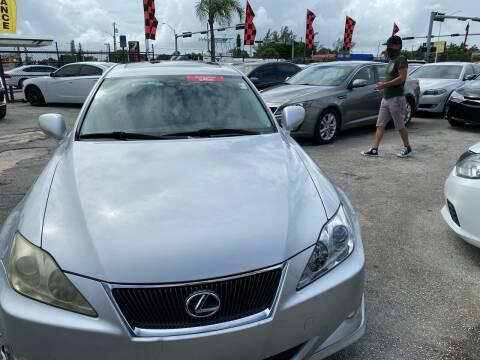 2007 Lexus IS 250 for sale at America Auto Wholesale Inc in Miami FL