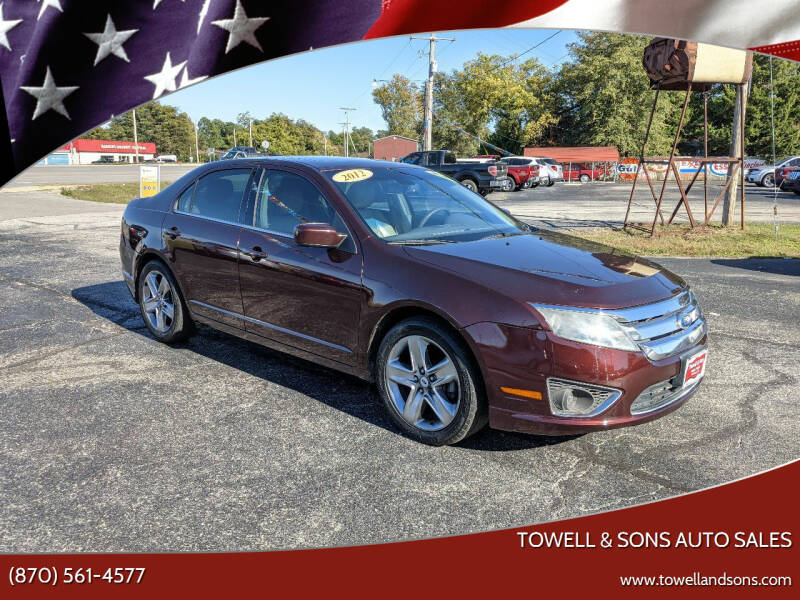 2012 Ford Fusion for sale at Towell & Sons Auto Sales in Manila AR