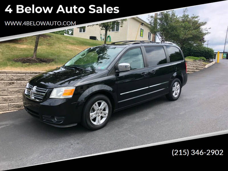 2008 Dodge Grand Caravan for sale at 4 Below Auto Sales in Willow Grove PA