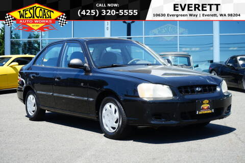 2002 Hyundai Accent for sale at West Coast Auto Works in Edmonds WA