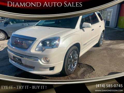 2011 GMC Acadia for sale at Diamond Auto Sales in Milwaukee WI