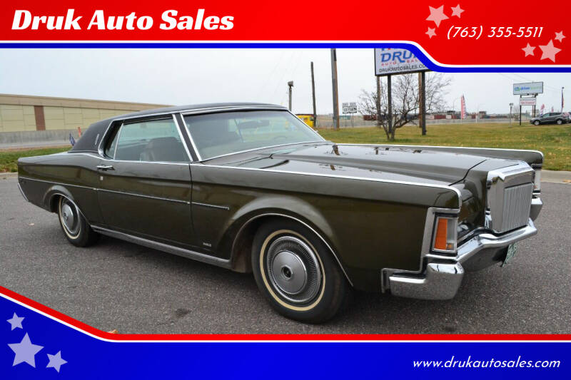 1970 Lincoln Continental for sale at Druk Auto Sales in Ramsey MN