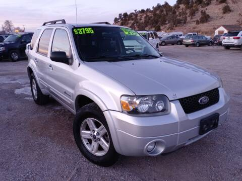 2007 Ford Escape Hybrid for sale at Canyon View Auto Sales in Cedar City UT