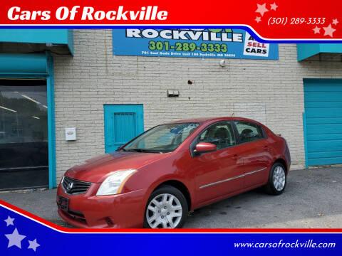 2011 Nissan Sentra for sale at Cars Of Rockville in Rockville MD