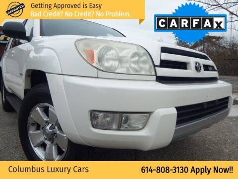2004 Toyota 4Runner for sale at Columbus Luxury Cars in Columbus OH