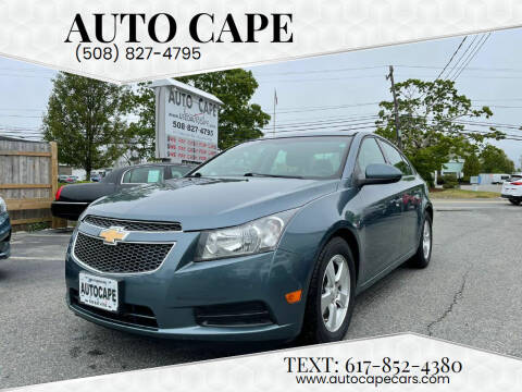 2012 Chevrolet Cruze for sale at Auto Cape in Hyannis MA