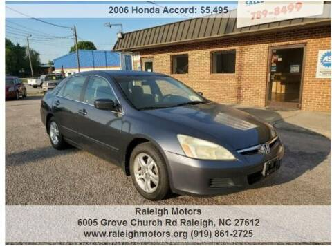2006 Honda Accord for sale at Raleigh Motors in Raleigh NC