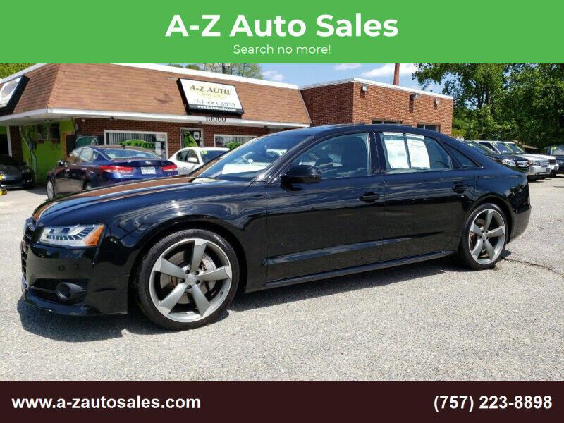 2017 Audi A8 L for sale at A-Z Auto Sales in Newport News VA