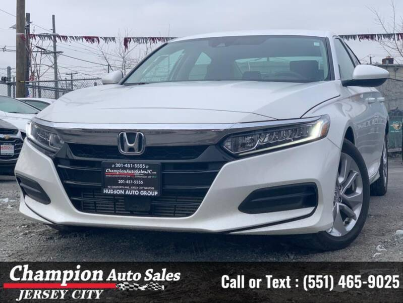 2019 Honda Accord for sale at CHAMPION AUTO SALES OF JERSEY CITY in Jersey City NJ