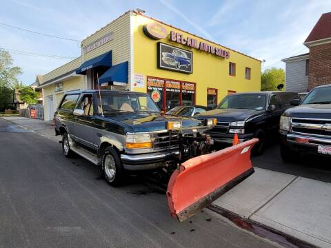 1994 Ford Bronco for sale at Bel Air Auto Sales in Milford CT