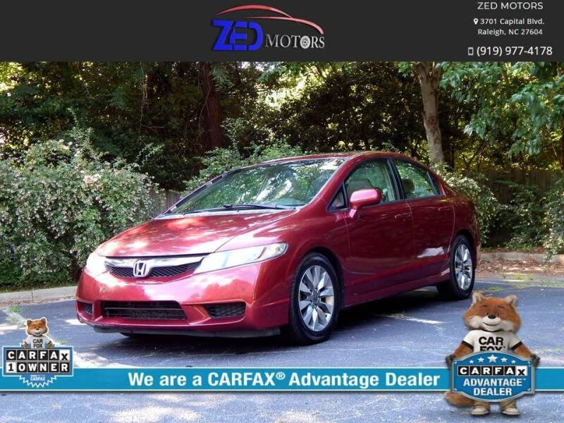 2009 Honda Civic for sale at Zed Motors in Raleigh NC