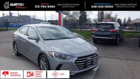 2017 Hyundai Elantra for sale at Quattro Motors 2 - 1 in Redford MI